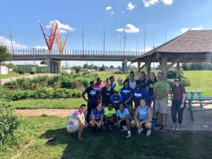 Reiver Women's Basketball Team at CreekTop Gardens
